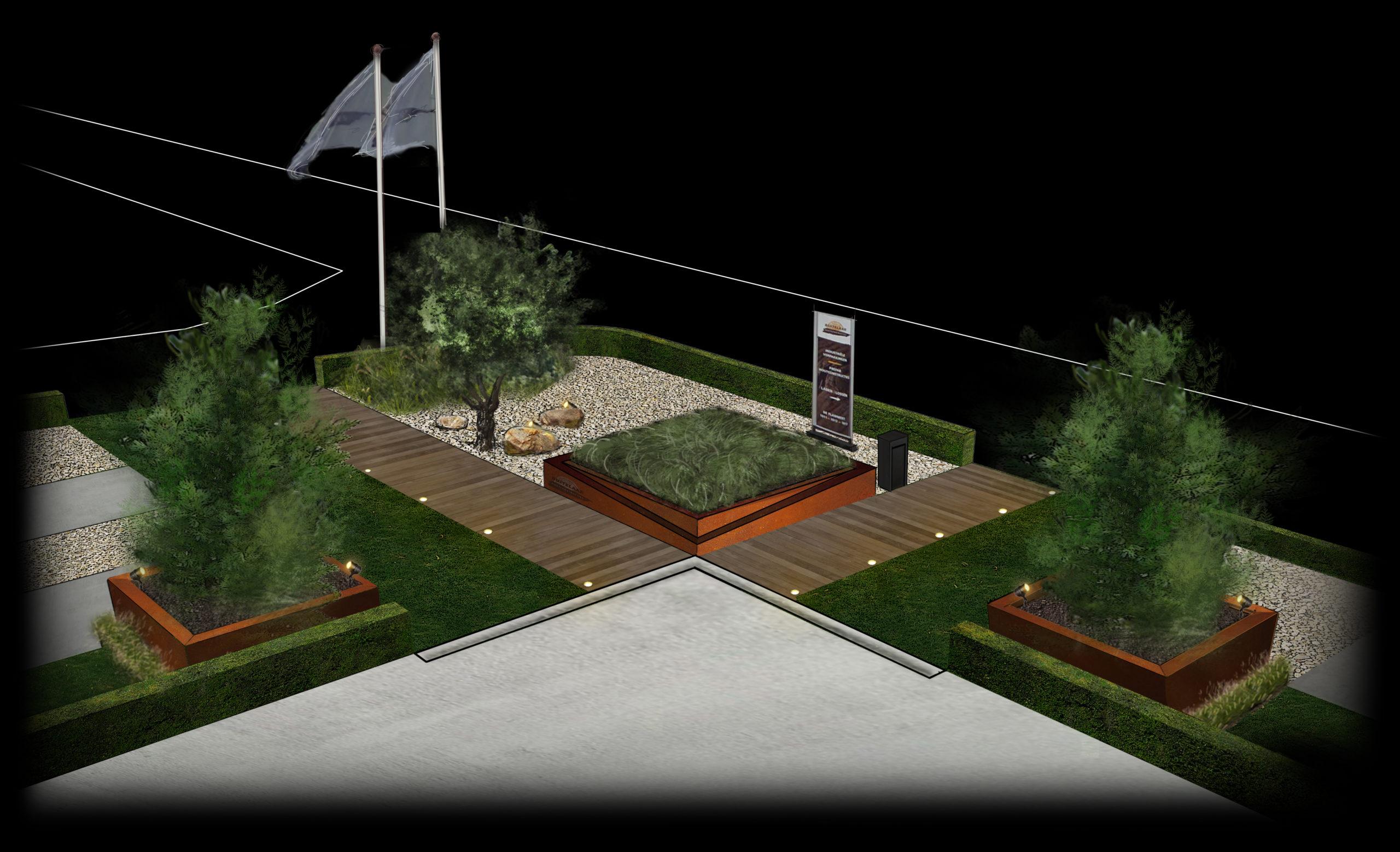 3D impressie tuinontwerp houtbouwer hovenier tuinaanleg tuininspiratie